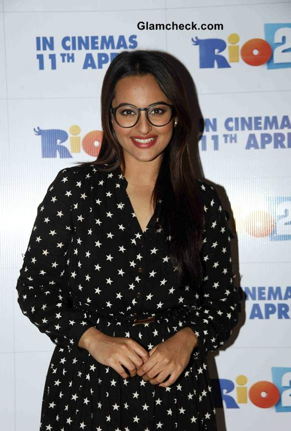 Sonakshi Sinha in Oasis Polka Dotted Dress at Rio Special Screening