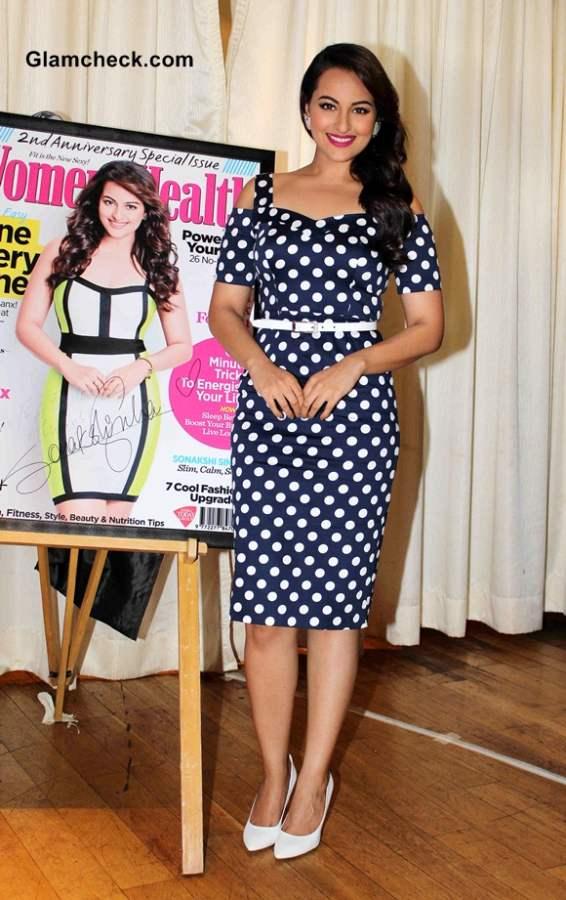 Sonakshi Sinha in Polka Dot Dress 2014
