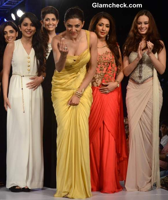 Sushmita Sen Show-Stopper at Smile Foundation Charity Fashion Show