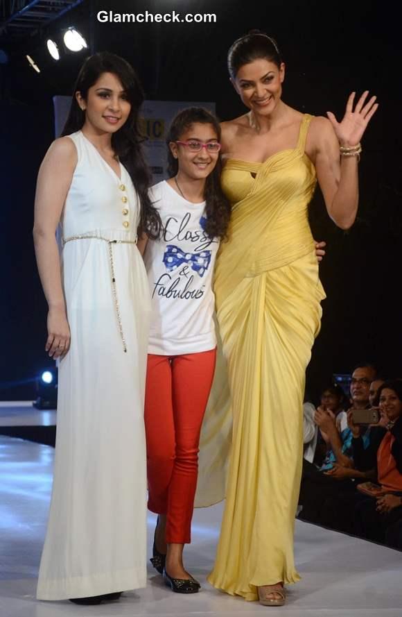 Sushmita Sen with daughter Renee Sen and designer Sonaakshi Raaj