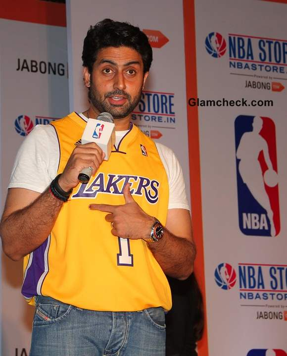 Abhishek Bachchan Indias First Online NBA Store Launch