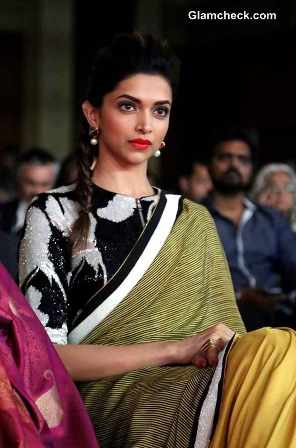Deepika Padukone In Dev R Nil Sari At Ndtv Indian Of The