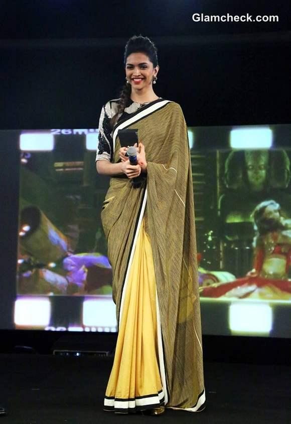 Deepika Padukone in Dev R Nil Sari