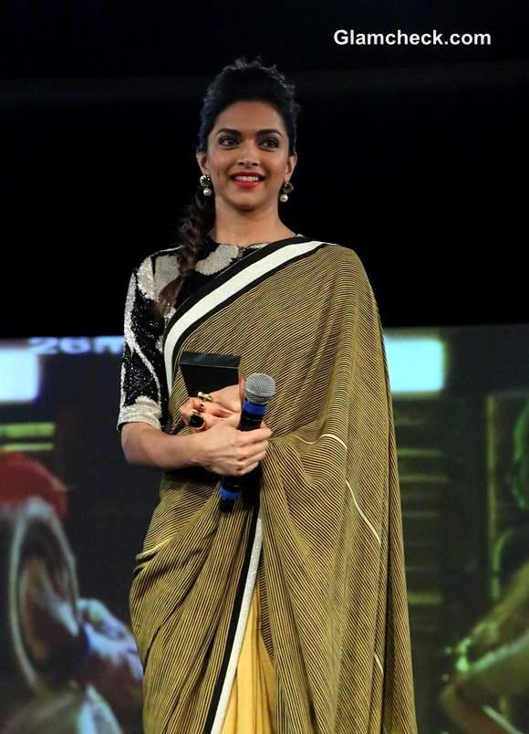 Deepika Padukone in Sari pictures 2014