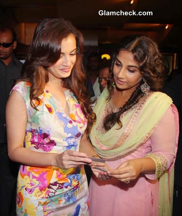 Dia Mirza and Vidya Balan at the Trailer Launch of Bobby Jasoos