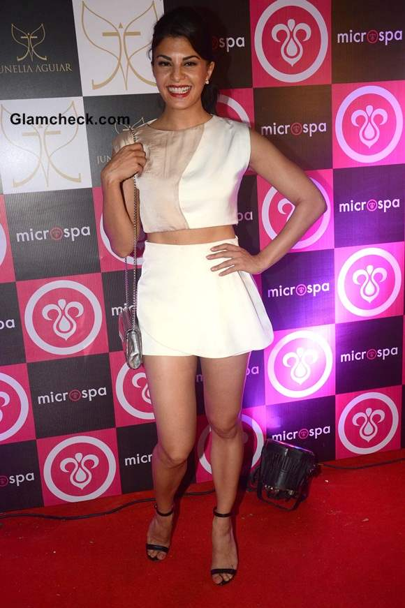 Jacqueline Fernandez in Cropped Top at Microspa Launch 2014