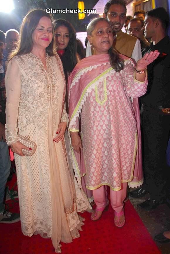 Jaya Bachchan with Ramola Bachchan