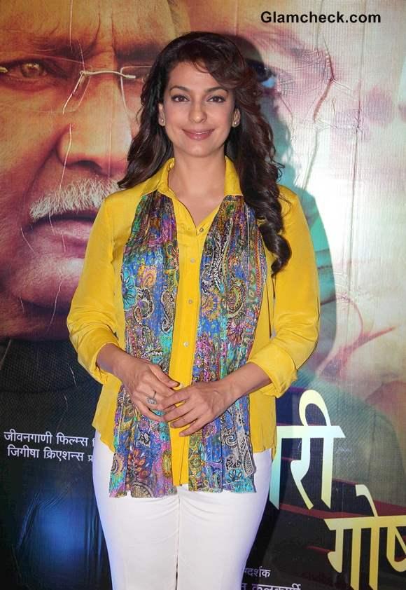 Juhi Chawla at Dusari Goshta Premiere