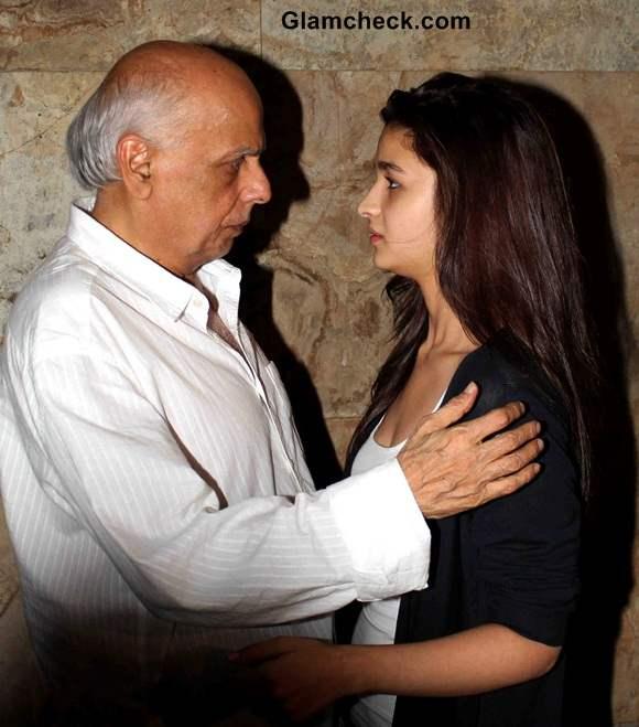 Mahesh Bhatt with his daughter Alia Bhatt
