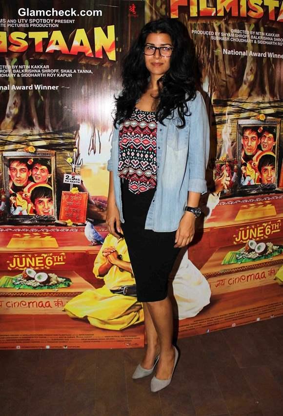 Nimrat Kaur at the Special Screening of Filmistaan in Mumbai