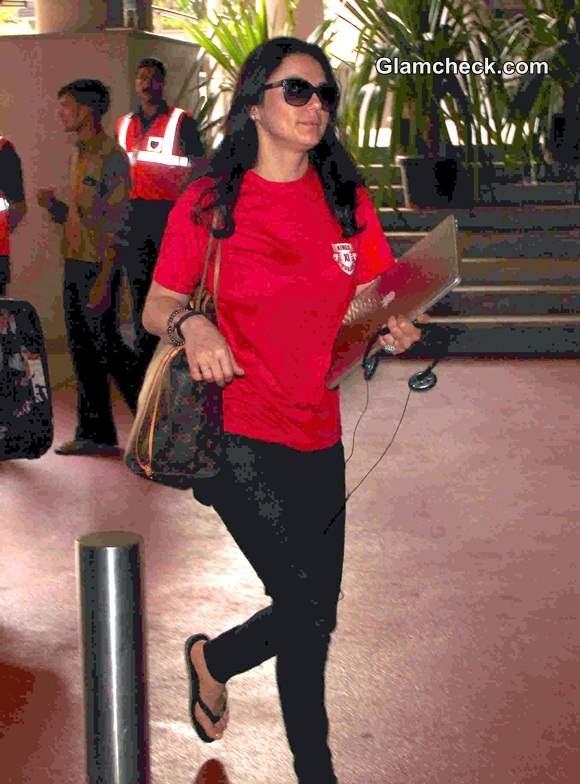 Preity Zinta Airport Look 2014