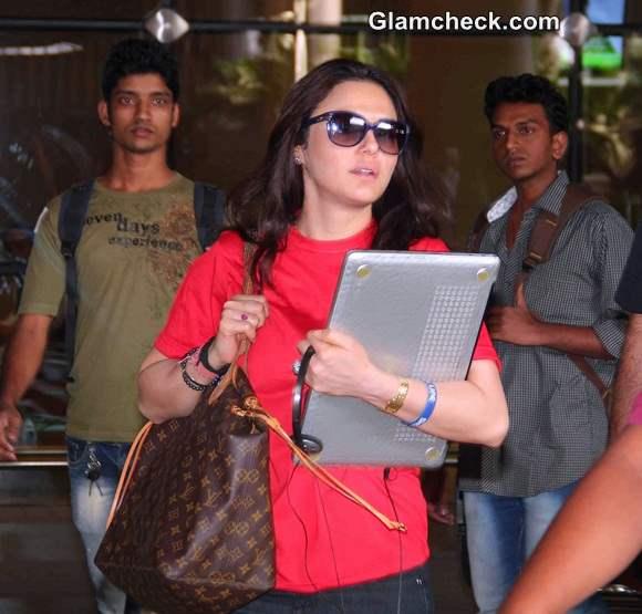 Preity Zinta Returns from Win at IPL 7