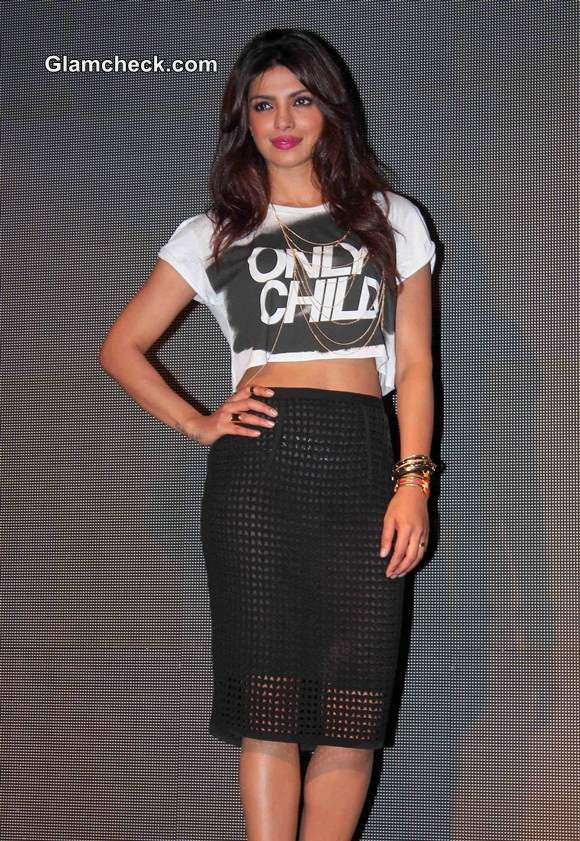Priyanka Chopra in see-through outfit at New Single Launch