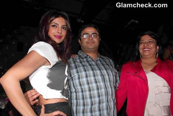 Priyanka Chopra with her brother Siddharth Chopra and mother Madhu Chopra