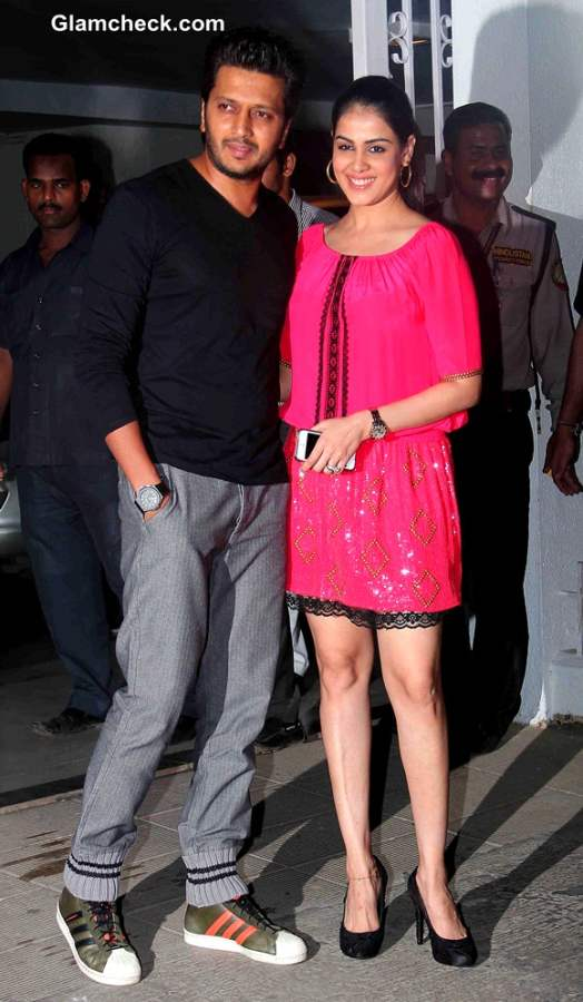 Riteish Deshmukh with his wife Genelia D'Souza