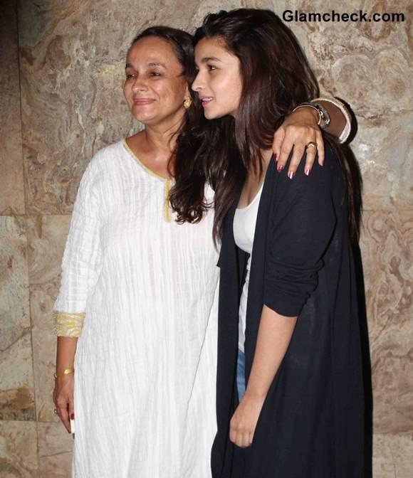 Soni Razdan with her daughter Alia Bhatt