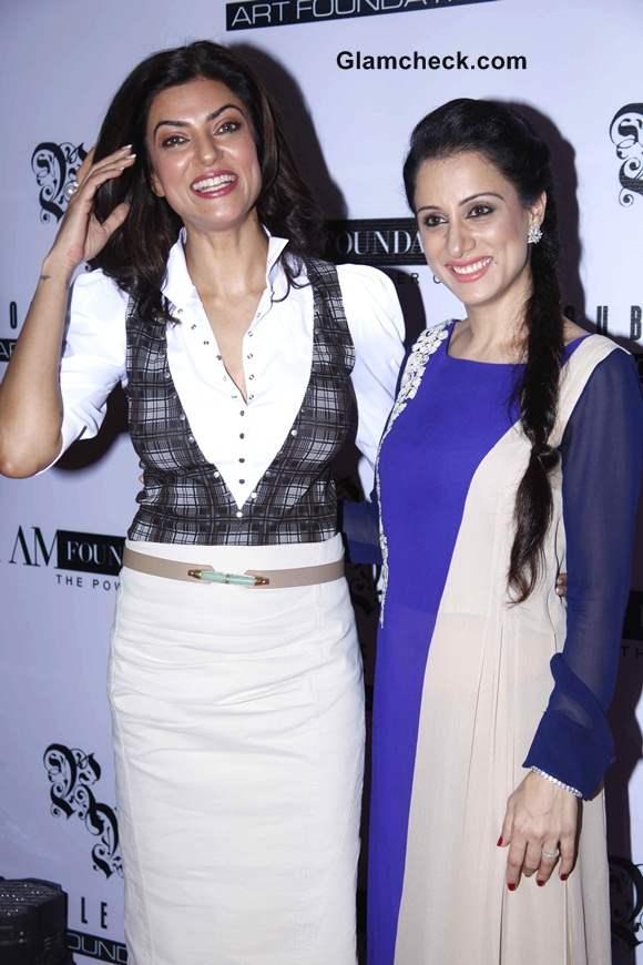 Sushmita Sen Co-Hosts Power Luncheon for Women with Artist Rouble Nagi
