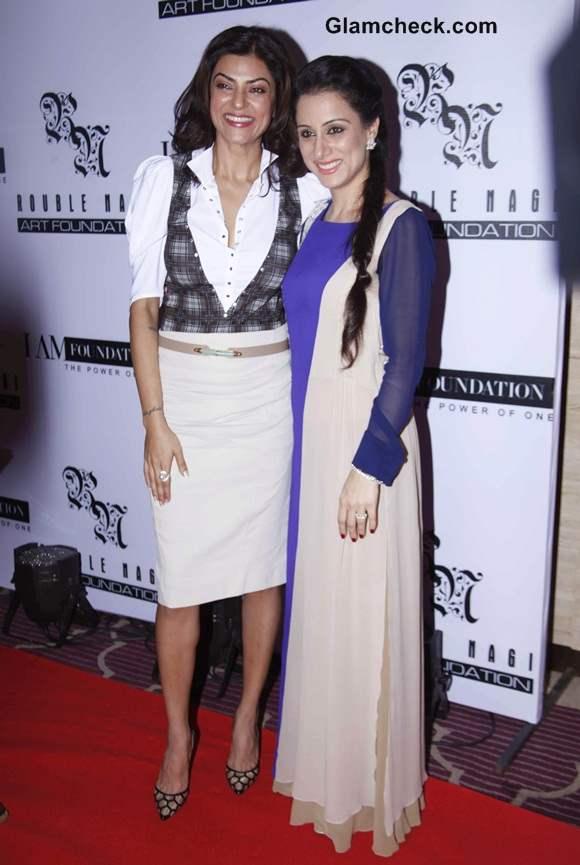 Sushmita Sen with Artist Rouble Nagi