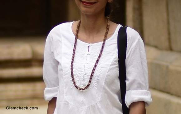 Temple Visit Outfit of the Day in neutral colors