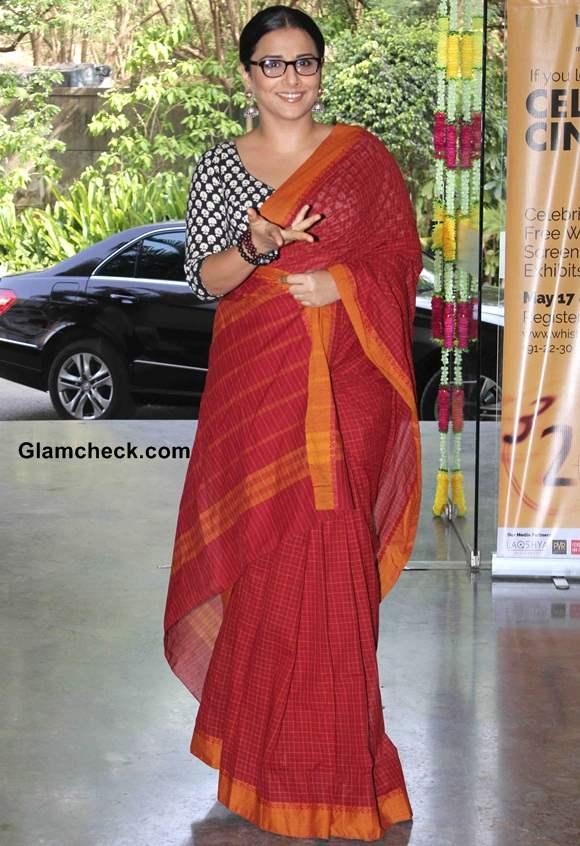Vidya Balan 2014 In Sari