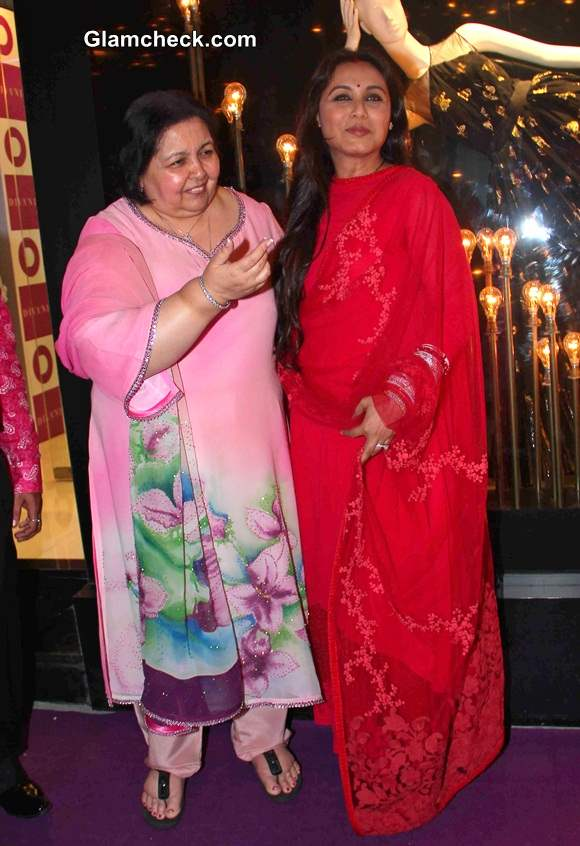 Yesh Chopras wife Pamela Chopra with  Rani Mukerji