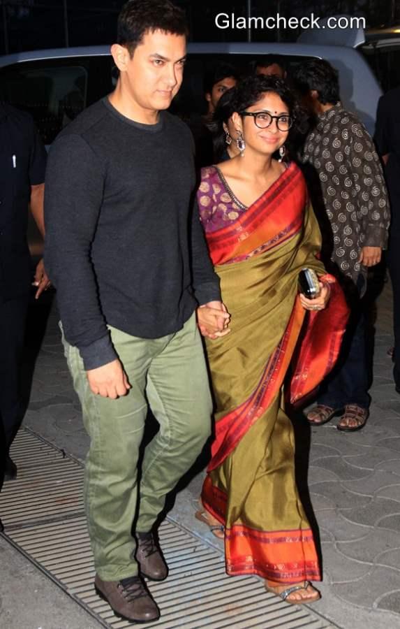 Aamir Khan Kiran Rao Attend Star Parivaar Awards 2014