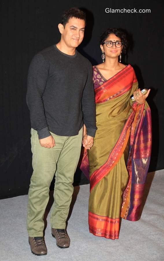 Aamir Khan Kiran Rao at Star Parivaar Awards 2014