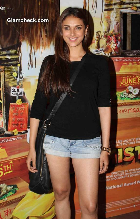 Aditi Rao Hydari Goes Black and Blue for Filmistaan Screening