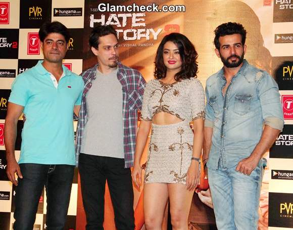 Cast of Hate Story 2 Launch Trailer in Mumbai