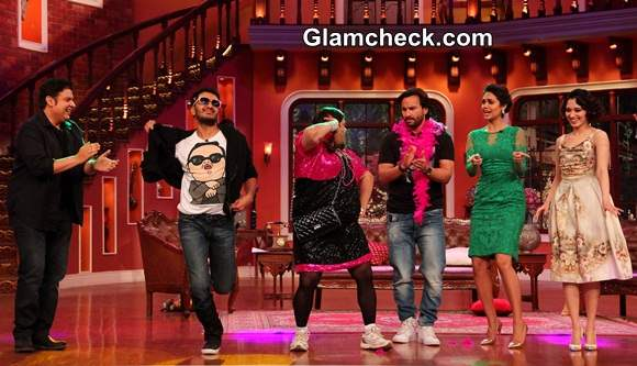 Cast of Humshakals Have Fun on Comedy Nights with Kapil