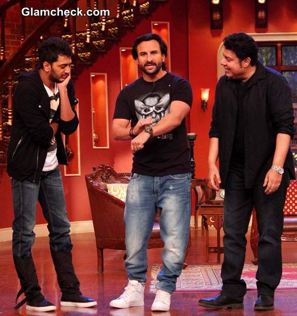 Cast of Humshakals on Comedy Nights with Kapil