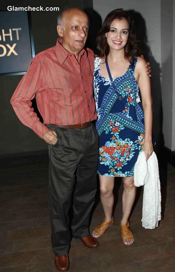 Dia Mirza with filmmaker Mukesh Bhatt
