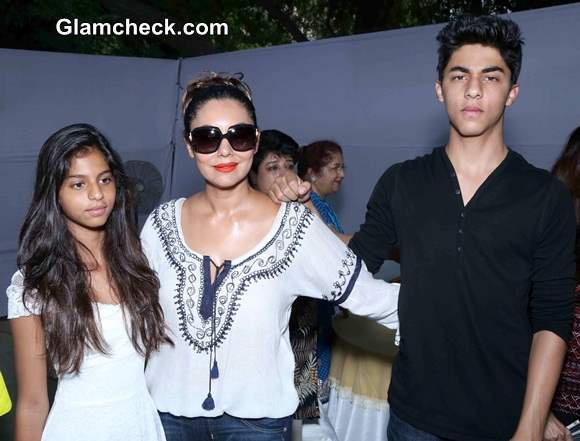 Gauri Khan with Kids Jets to Delhi for Bakery Launch