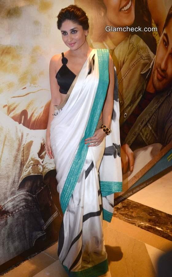 Kareena Kapoor 2014 in Sari at Lekar Hum Deewana Dil Music Launch