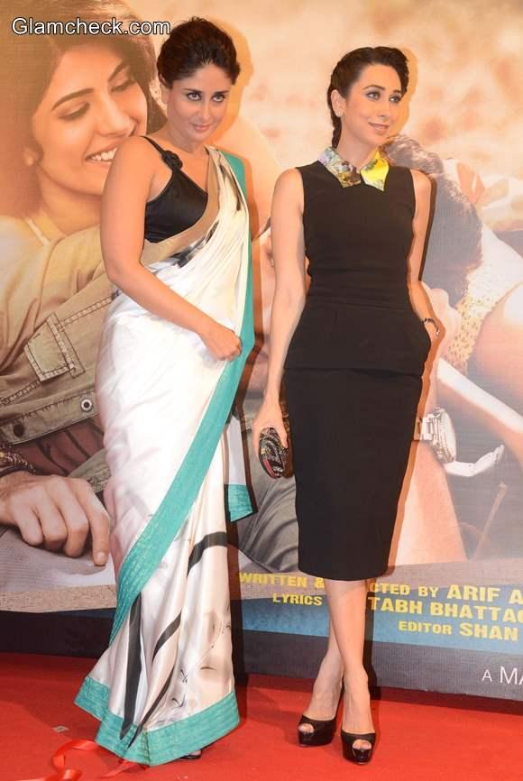 Karisma Kapoor and Kareena Kapoor at Lekar Hum Deewana Dil Music Launch
