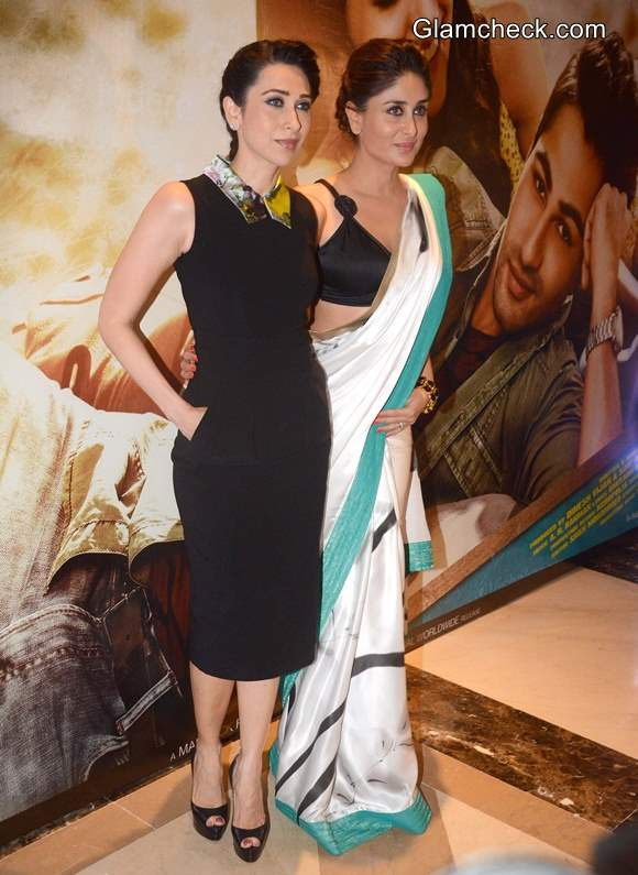Karisma and Kareena Kapoor at Lekar Hum Deewana Dil Music Launch