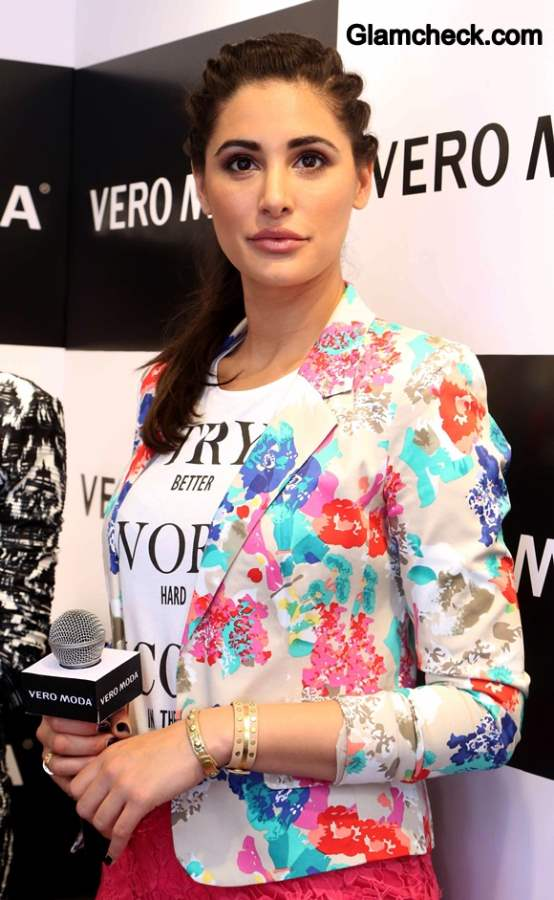 Nargis Fakhri Launches Vero Moda in Vero Moda 2014