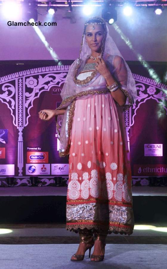 Neha Dhupia 2014 at Geetanjali Indian Wedding Couture Show