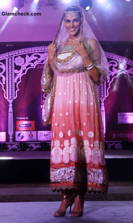 Neha Dhupia Show-stopper at Geetanjali Indian Wedding Couture Show