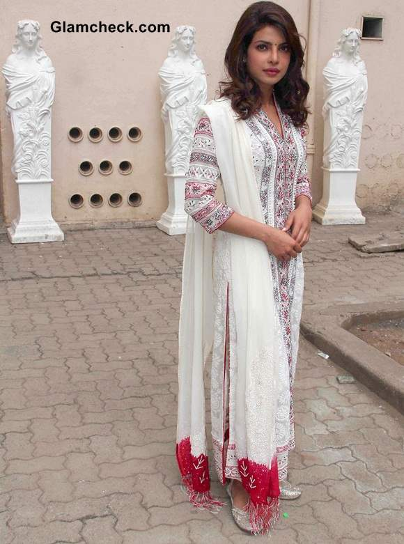 Priyanka Chopra Picks Traditional Look for Day Out with NGO Kids