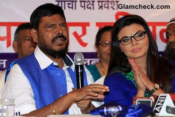 Rakhi Sawant Joins Republican Party of India 2014