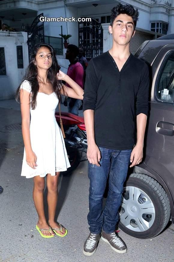 Shahrukh Khan Kids Aryan and Suhana