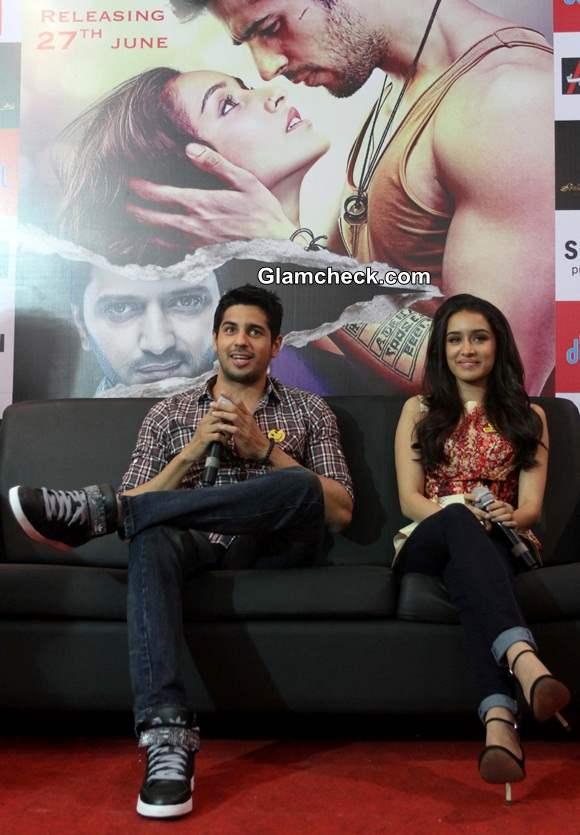 Sidharth and Shraddha at Ahmedabad for Ek Villan Promo