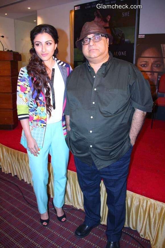 Soha Ali Khan at Chaarfutiya Chhokare Promotions