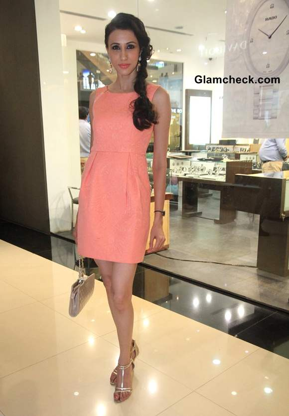 Summer Style Inspiration - Alesia Raut Ups the Heat and Glamour in Peach Dress