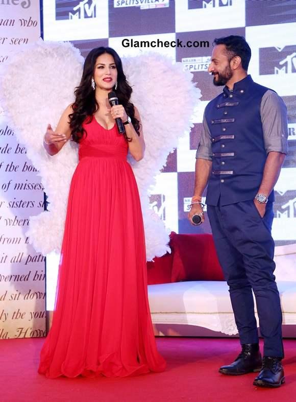 Sunny Leone Nikhil Chinapa Launch Splitsvilla 7 in New Delhi