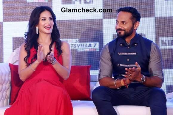 Sunny Leone and Nikhil Chinapa Launch Splitsvilla 7 in New Delhi