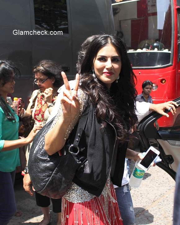 Sunny Leone at Mehboob Studio