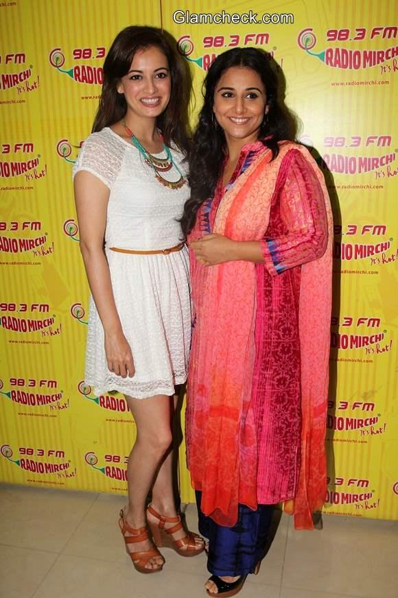 Vidya Balan and Dia Mirza Promote Bobby Jasoos on Radio Mirchi