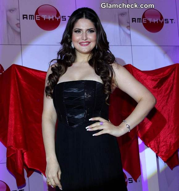Zareen Khan 2014 Launches Amethyst in India